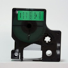 Buy Free 5 pcs 6mmX7m 6mm label tape black green 43619 compatible d1 label tapes dymo d1 label printer for $24.50 in AliExpress store