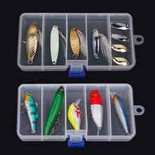Transparent Plastic Fishing Lure Bait Box Storage Organizer Container Case free shipping(China (Mainland))