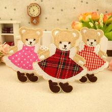 Applique patch cartoon decorative sweater trousers jeans accessories attached to Scotland skirt bear scrapbooking accessories