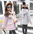 Winter Girls Coats Cartoon Baby Warm Jackets Trench Children Smile Tops Kid Outerwear Windbreaker Dustcoat Vestido