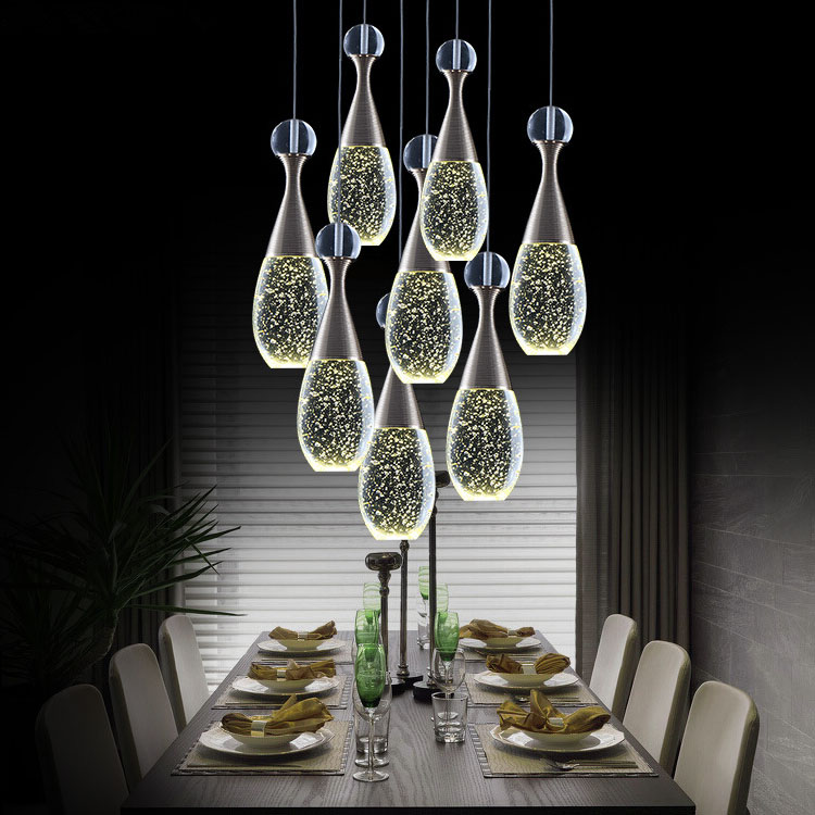 Buy top luxury 8 lights dining room for Modern crystal chandelier for dining room