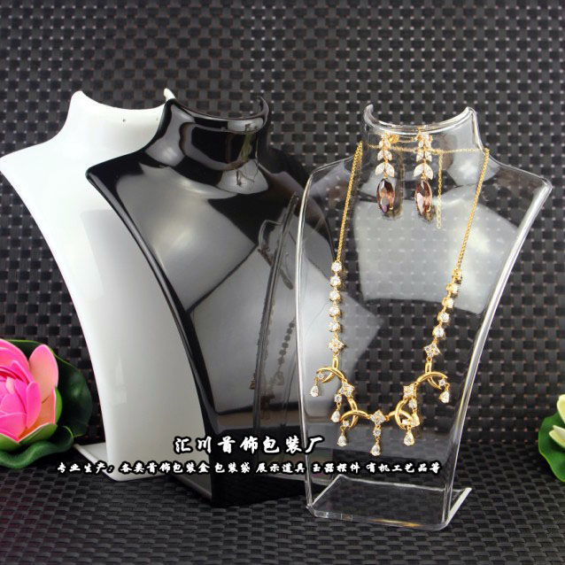 3 x Fashion Jewelry Display Bust Acrylic Storage Box Mannequin Jewelry Holder for Earring Hanging Necklace Stand Holder Doll(China (Mainland))