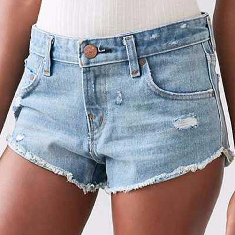 2017 Summer Women Shorts Solid Casual Mid Waist Skinny Fashion Style Button high Quality Denim Shorts Jeans