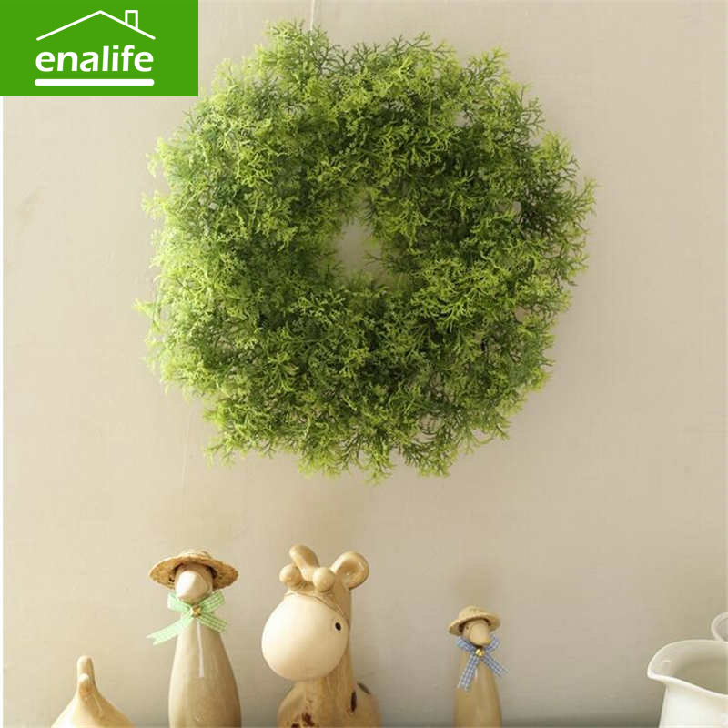 Green grass ring simulation artificial flower plastic ring spring grass flower decoration arranging home decoration eal-df405