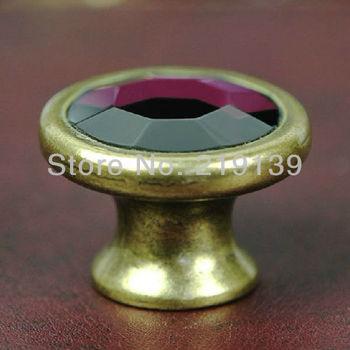 2pcs 38mm Crystal Glass Clear Cabinet Knob Drawer Pull Handle Kitchen Door Wardrobe Hardware