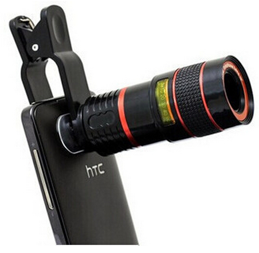Universal 8X Optical Zoom Telescope Camera Lens for Mobile Phone iPhone 4S 4G 5G 5S 5C 6 Samsung i9300 S4 S3 Galaxy Note 2 3(China (Mainland))