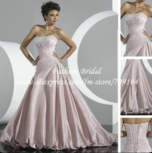 Hot sale a line off the shoulder modest pink wedding dress for Modest wedding dresses for sale