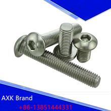 Buy 50Pcs M2 M2.5 M3 M4 M5 ISO7380 GB70.2 304 Stainless Steel A2 Round Head Screws Mushroom Hexagon Socket Button Head Screw AXK43 for $3.75 in AliExpress store