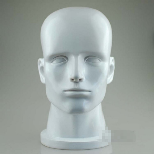 Exclusive Mannequins Head Display,High-grade White Gloss Fiberglass Mannequin Head for Hat/ wig/ headphones Factory Direct Sell(China (Mainland))
