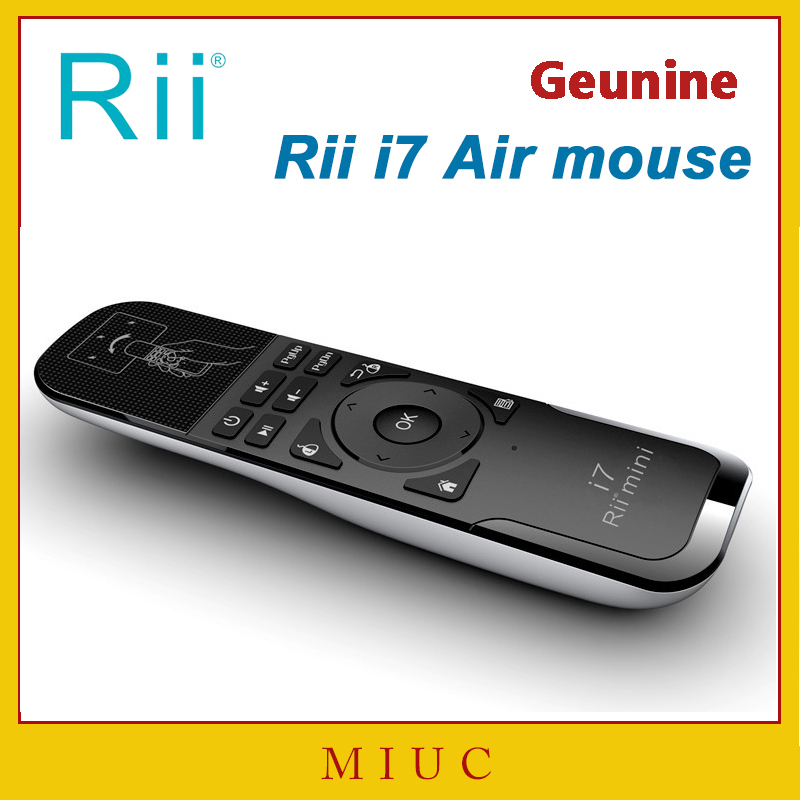 Genuine Mini Fly Air Mouse Rii i7 2.4G Wireless Remote Combo Built-in 6 Axis for PC/Android Tv Box/X360/PS3 Motion Sensing Gamer(China (Mainland))