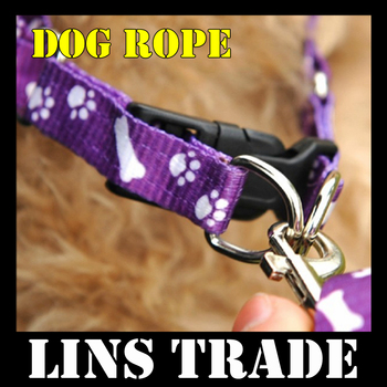 Free shipping New 10PCS/Lot dog chain pet traction rope nylon leash harness chest collar drawing neck lead strap #8154