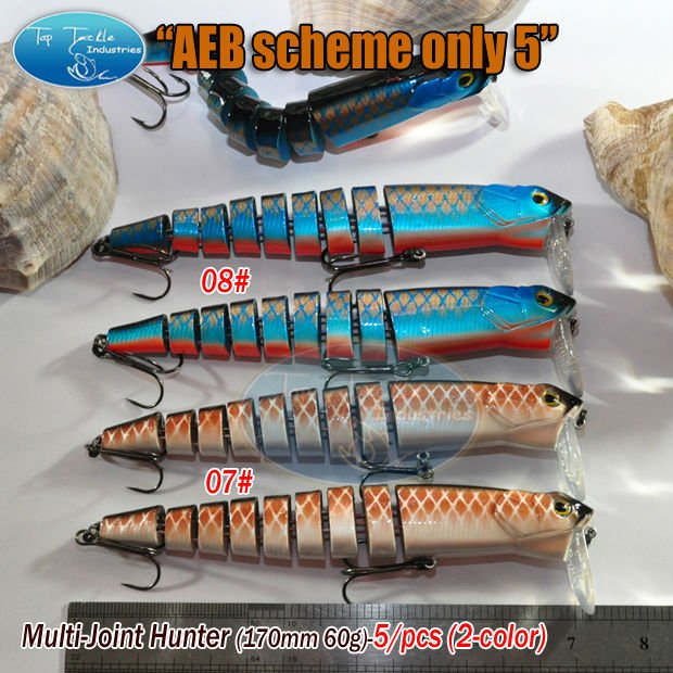 fishing lure Multi-Joint Hunter(170mm 60g)-10/pcs(07#,08#) AEB SCHEME ONLY 10<br><br>Aliexpress