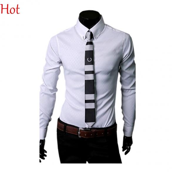 Top party dress shirts formal work business shirt long for Best fitting men s dress shirts