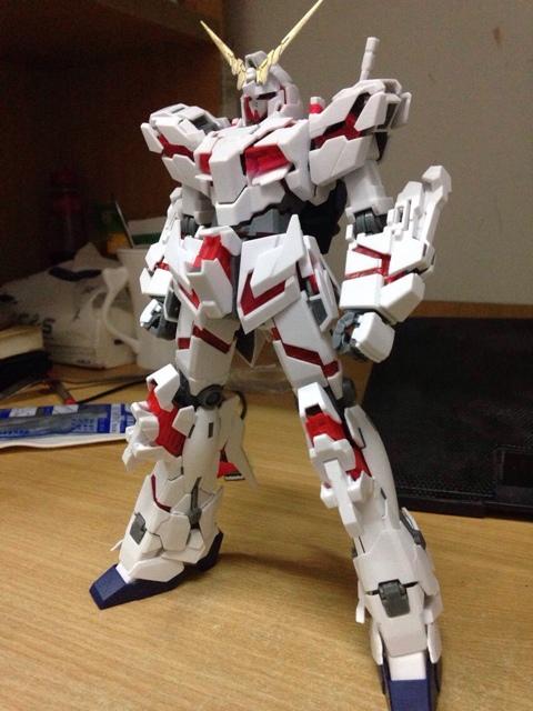 Anime Gundam MG 1:100 GG Model Unicorn Assembled kits toys children Brinquedos retail box