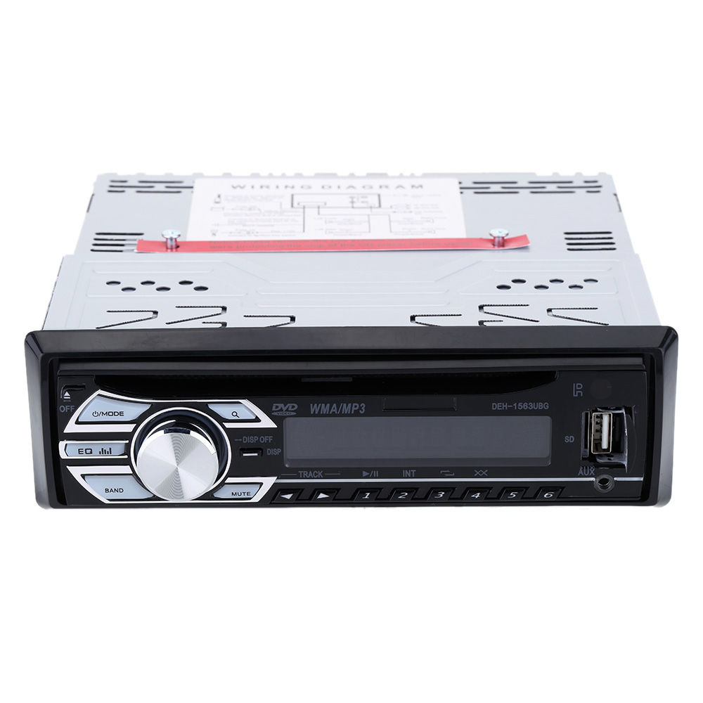 Car MP3 Player In-Dash FM Aux Car Stereo Audio Player DVD/CD/MP4/WMA Radio Receiver USB SD Slot Anti-Shock Digital Clock Display(China (Mainland))
