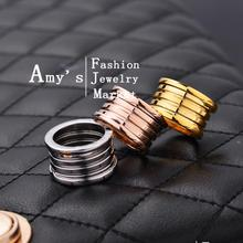 Hotsale Top Quality Luxury Brand Style 18K Gold Plated Stainless Steel Ring women Fashion jewelry Ring free shipping Best gift(China (Mainland))