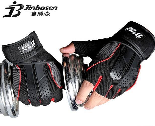 Men's Body Building Luvas Fitness Gloves Half Finger Sport Gym Equipment Antiskid Dumbbell Weight Lifting Gloves Pesas Gimnasio(China (Mainland))