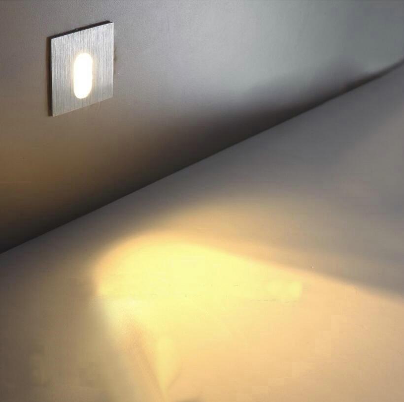 LED Corner Lamp Footlights 3W Embedded Wall Lights Step Lights Outdoor Stairs Light Skirting Nightlights Ca89(China (Mainland))