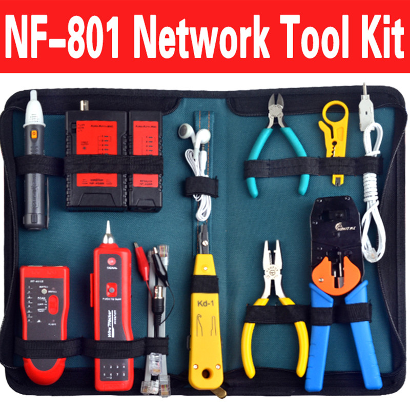 nf 801set u0026468b rj45 rj11 bnc usb lan network tool kit
