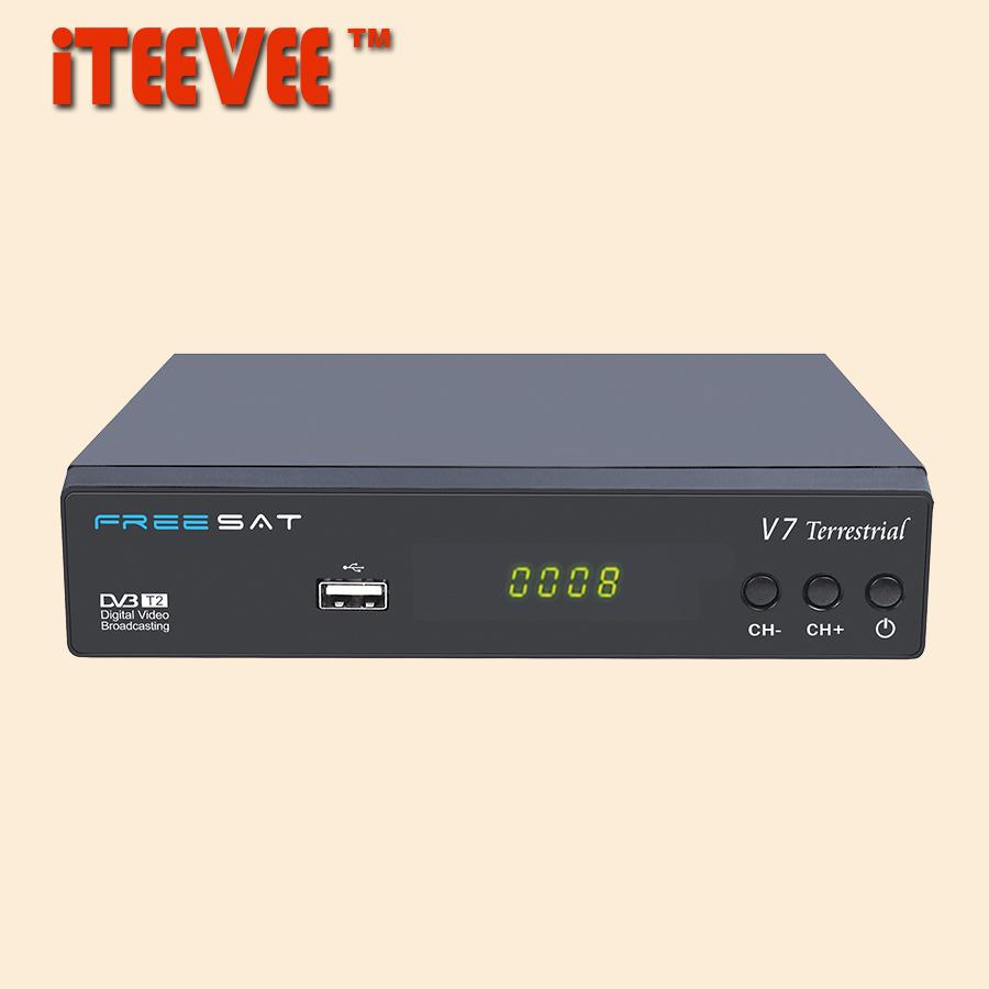 [iTEEVEE] FREESAT V7 Terrestrial DVB-T2 Smart TV Box HD DVB-T2 T2 STB HD TV Digital Terrestrial Receiver DVB T/T2 Set top Box(China (Mainland))