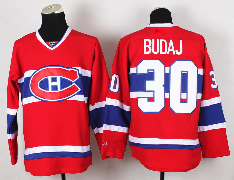 Best Quality Montreal Canadiens Jersey Mens #30 Peter Budaj Red Ice Hockey Jerseys 100% Stitched Name 512<br><br>Aliexpress