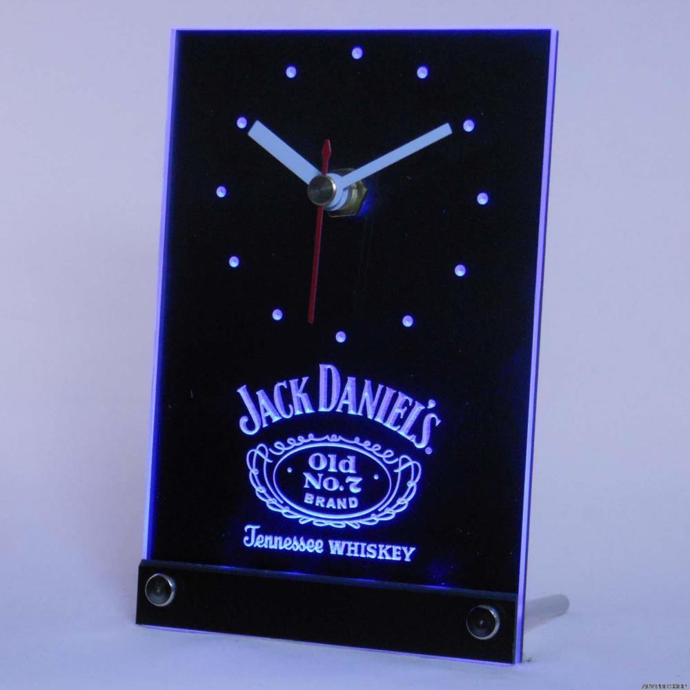 tnc0477 Jack Daniel's Whiskey Bar 3D LED Table Desk Clock(China (Mainland))