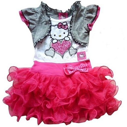 Платье для девочек Hello kitty dress, girl dress, girl party dress, girls dresses 2015 Vestidos Infantis 1 ZZ3038 baby girls dress, girls dress, kids clothes, dress for girls muababy summer girls princess dresses children kids sequined sleeveless layered dress party ball gown girl tulle wedding clothes