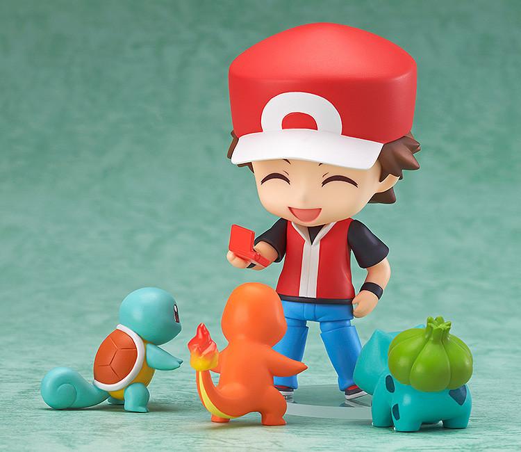 Pokemon Ash Ketchum Фигурку Игрушки Nendoroid Zenigame Bulbasaur Charmander Покемон Фигурку Красный Аниме Коллекционная Модель