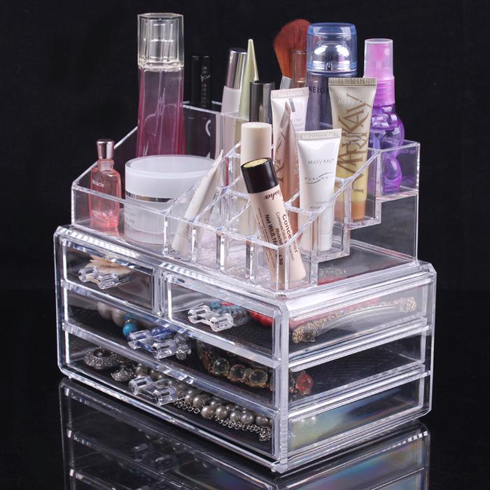 Acrylic Cosmetic Storage Organizer Drawer Makeup Jewelry Case Storage Insert Holder Box(China (Mainland))