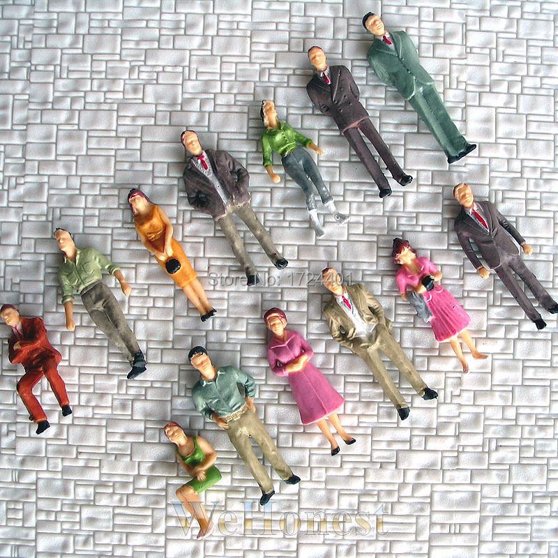 130 pcs O scale 1:48 Painted Figures People Passenger F<br><br>Aliexpress