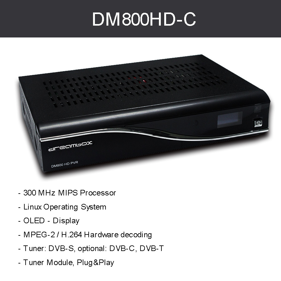 DM800 HD PVR Cable Receiver Box Pvr dvb-c cable REV M BL84 PVR Digital Satellite Receiver SIM2.01 Newdvb 800hd Pro Free shipping(China (Mainland))