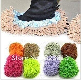 Chenille shoe cover foot cover slipper mop head Random hair color