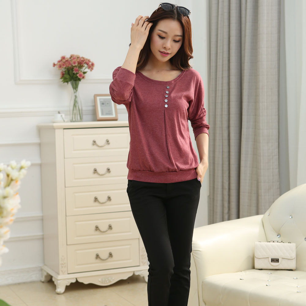 hot sale blouse 1pc women casual sexy cotton batwing sl