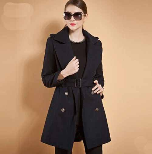Fall and winter clothes new style windbreaker jacket lady long it suit collar waist coatОдежда и ак�е��уары<br><br><br>Aliexpress
