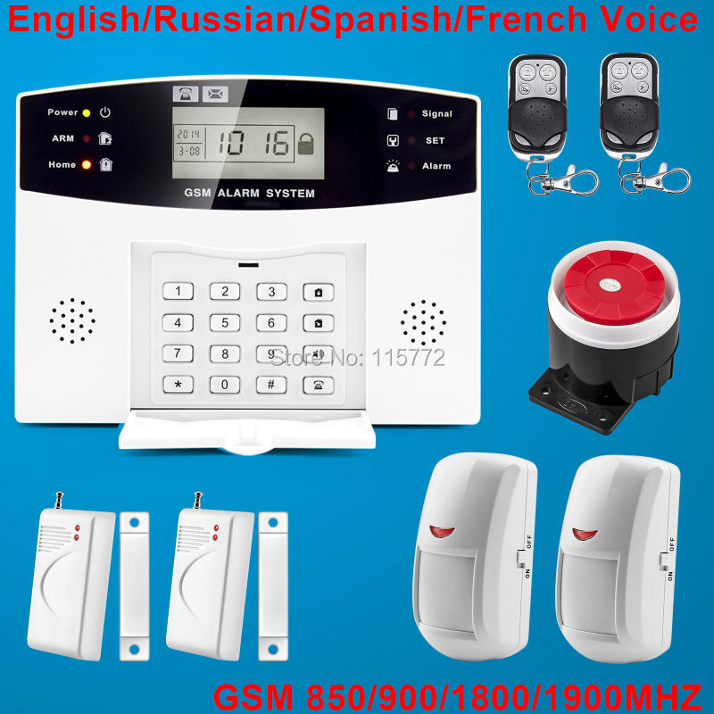 Фотография LCD GSM SMS Home Burgle Security Alarm System With PIR Sensor 900/1800/1900MHz