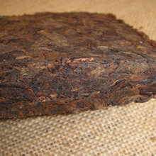 Famous tea trees pure materia, Meng hai trees vintage pieces cooked brick tea 250g, from the drink, gifts to share