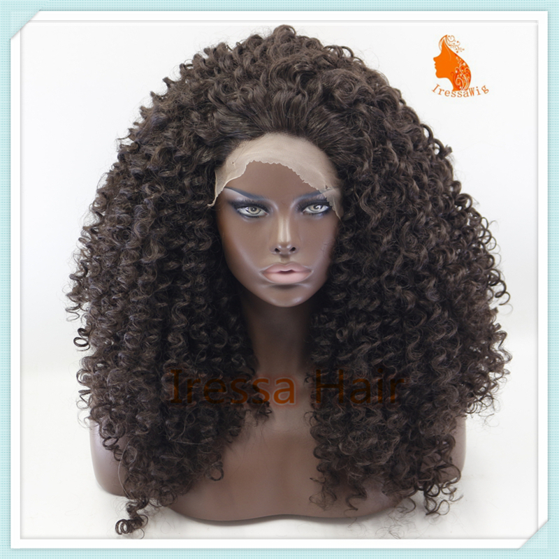Aliexpress.com : Buy Curly Synthetic Lace Front Wigs Dark ...