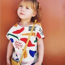 2016 Summer Kids Bobo Choses Short Sleeve T-shirt Boys Girls Printed Tops Baby Clothes(China (Mainland))