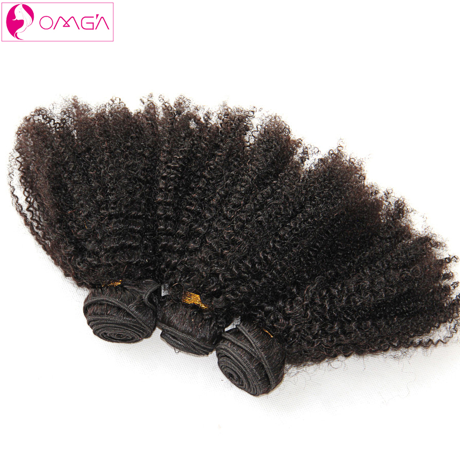 OMG Malaysian Virgin Afro Kinky Curly Hair 3 Bundles 6a Afro Kinky Curl Human Hair Weaves 1B 100g/pc Malaysian Hair Extensions<br><br>Aliexpress