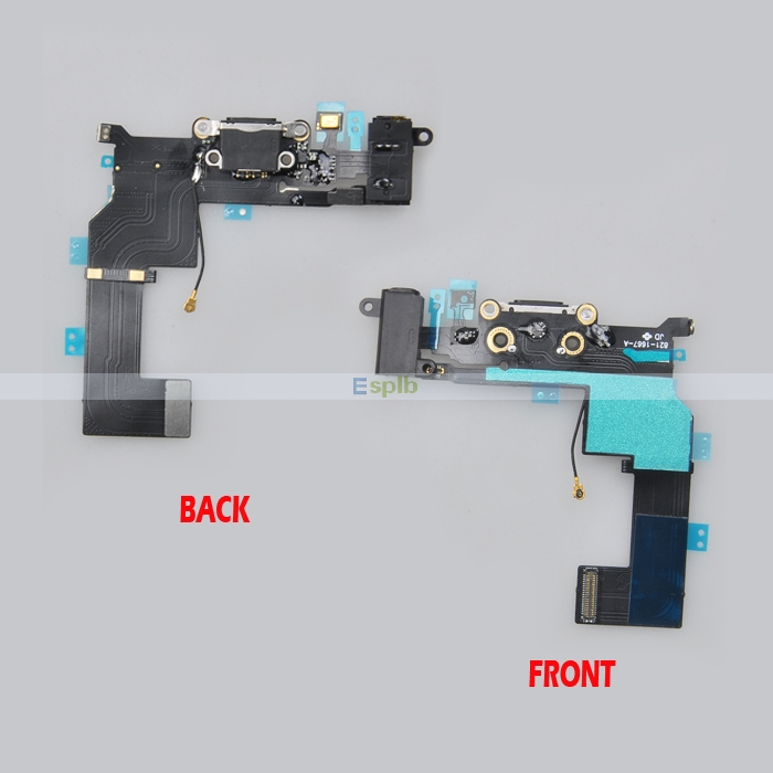 New Dock Charger Charging Flex Cable Port Headphone Jack Mic Connecto for iPhone 5 5S 5C 6 6 Plus 4 4G 4S(China (Mainland))