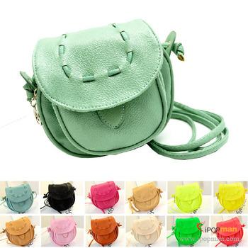 15 Colors! 2014 New Fashion Candy color women handbag shoulder bag PU Leather retro mini bag purse Messenger Bags, Free Shipping