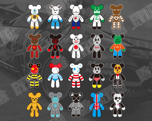 2015 Hot Sale Motorcycle Accessories Animal Car Covers Funny Bear Vinyl Stickers(China (Mainland))