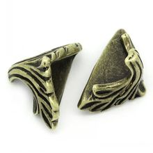 "Box Corner Foot Protector Desk Box Edge Antique Bronze Pattern Carved 19mm x 11mm(6/8""x 3/8""),30PCs 8seasons(China (Mainland))"