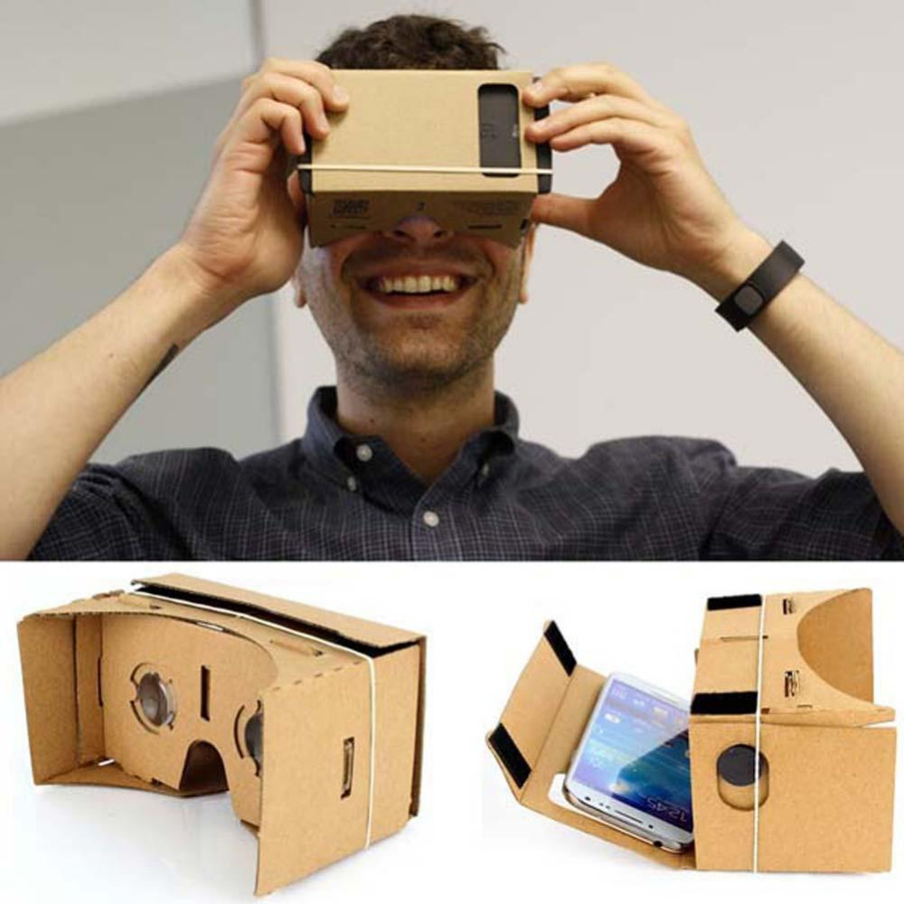 """New Arrival DIY Google Cardboard Virtual Reality VR Mobile Phone 3D Viewing Glasses 3D Movies Games for 5.0"""" Smartphone(China (Mainland))"""