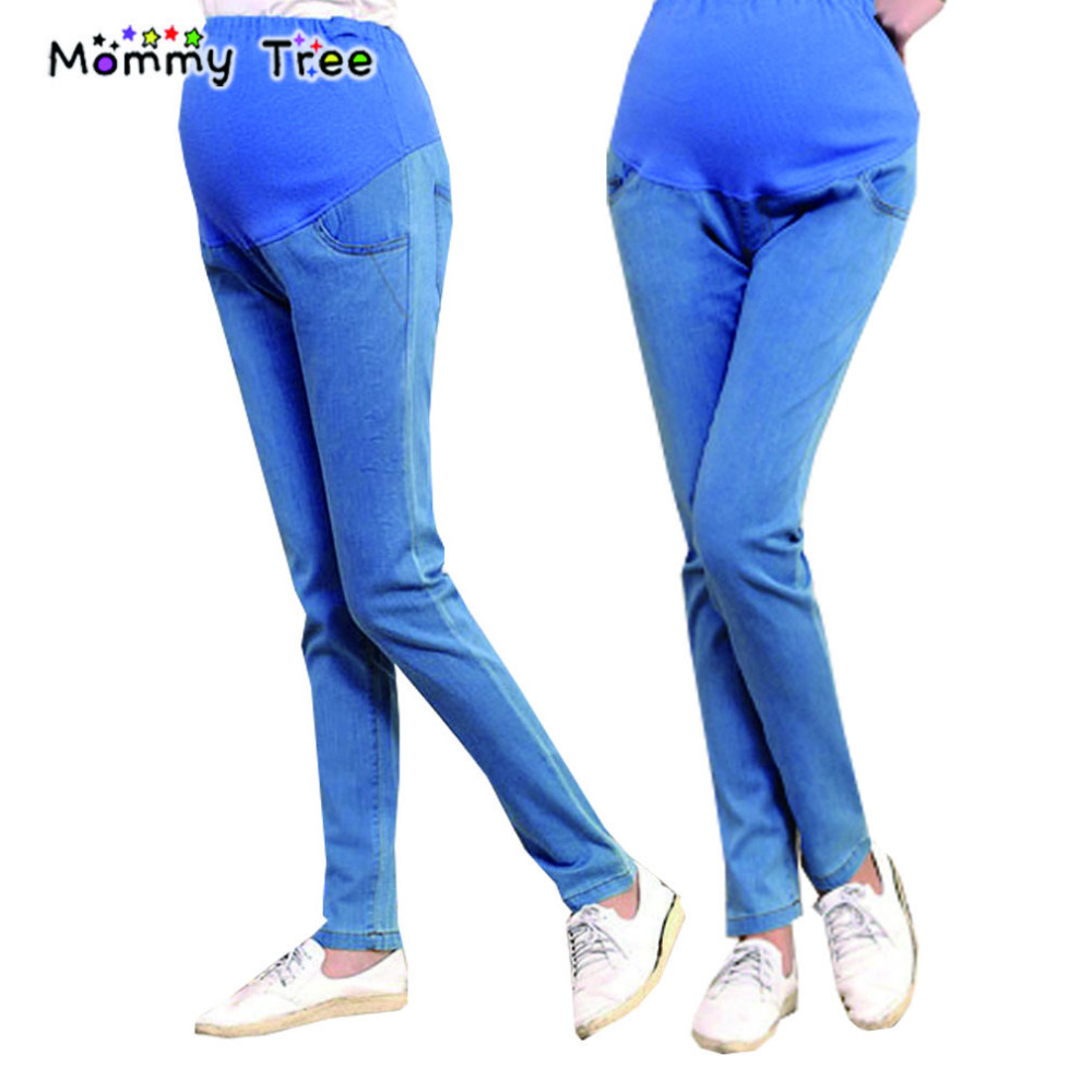 Denim Pants for Pregnant Skinny Maternity Jeans for Spring Summer Pregnancy Pants Elasticity Hight Waist Pregnant Trousers <br><br>Aliexpress