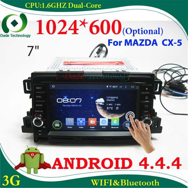 2 din car dvd player Android 4.4 car GPS radio car audio Car stereo for MAZDA CX-5 CX 5 1024*600 Capacitive screen (optional)(China (Mainland))