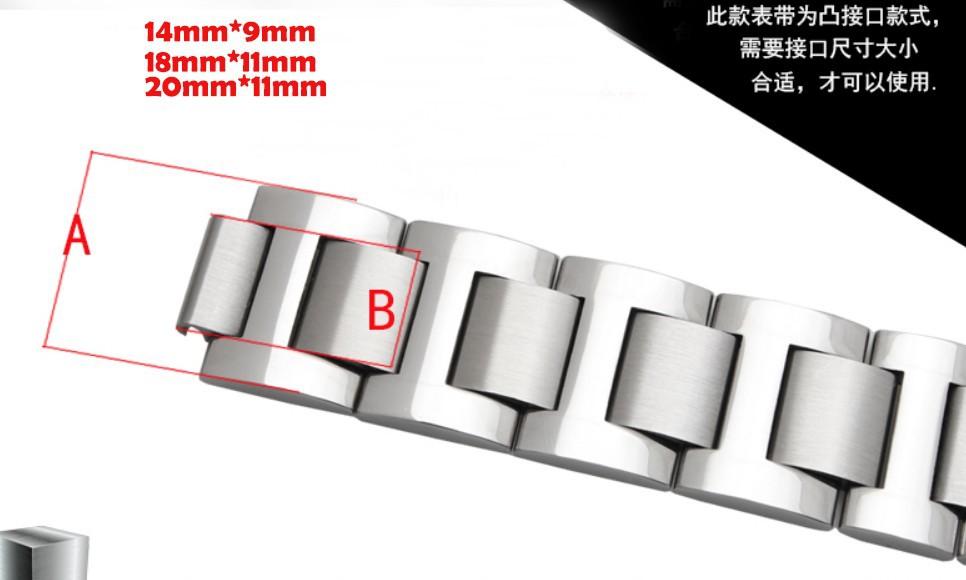 9 мм 11 мм 12 мм Смотреть Аксессуары Новый Высокое качество Металла Смотреть Band Ремешок Браслеты