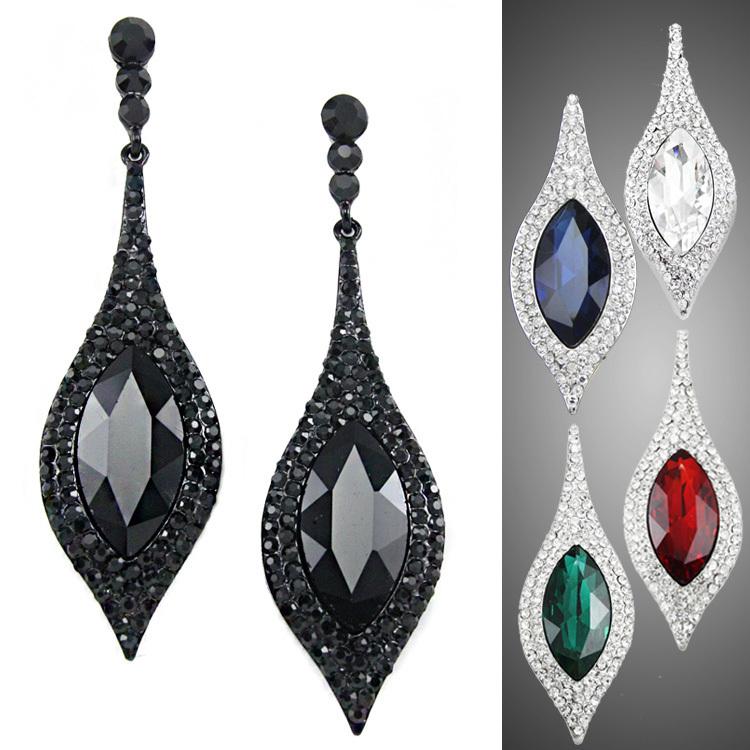 Original Buy Ajojewel Brand Black CZ Vintage Jewelry Women Geometric Earrings