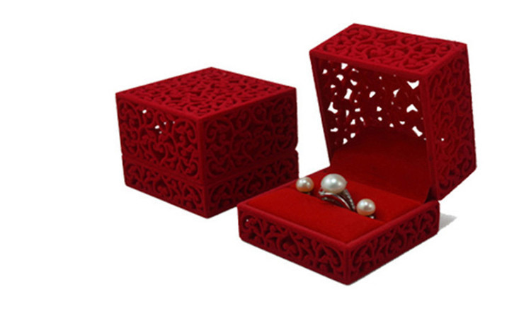 Free Shipping 10PCS/Lot Absolutely Unique Design Flocking &amp; Plastic HollowOut Jewelry Box &amp; Case For Single Ring &amp; Stud Earrings<br><br>Aliexpress