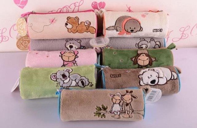 """Кэндис го! НИКИ плюшевые животных симпатичные цилиндр сумки Карандаш мультфильм любовника овец медведь коала """"морской лев"""" Косметический мешок 1 шт."""